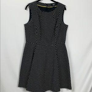 ABS Platinum Gillian Schwartz black/white dress 12